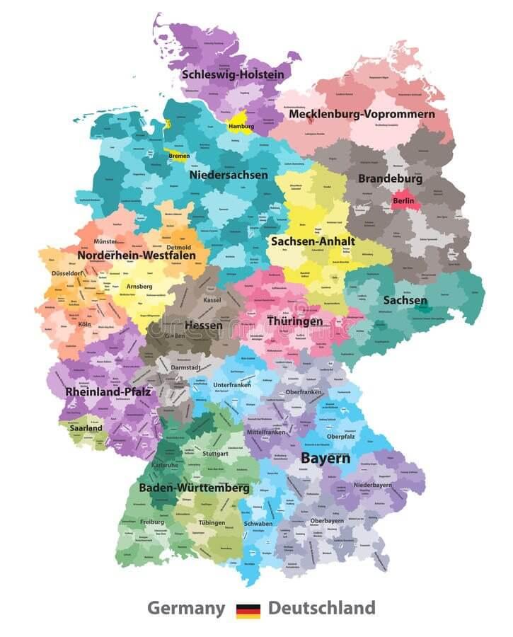 mapa da Alemanha 2 - Conheça o mapa da Alemanha