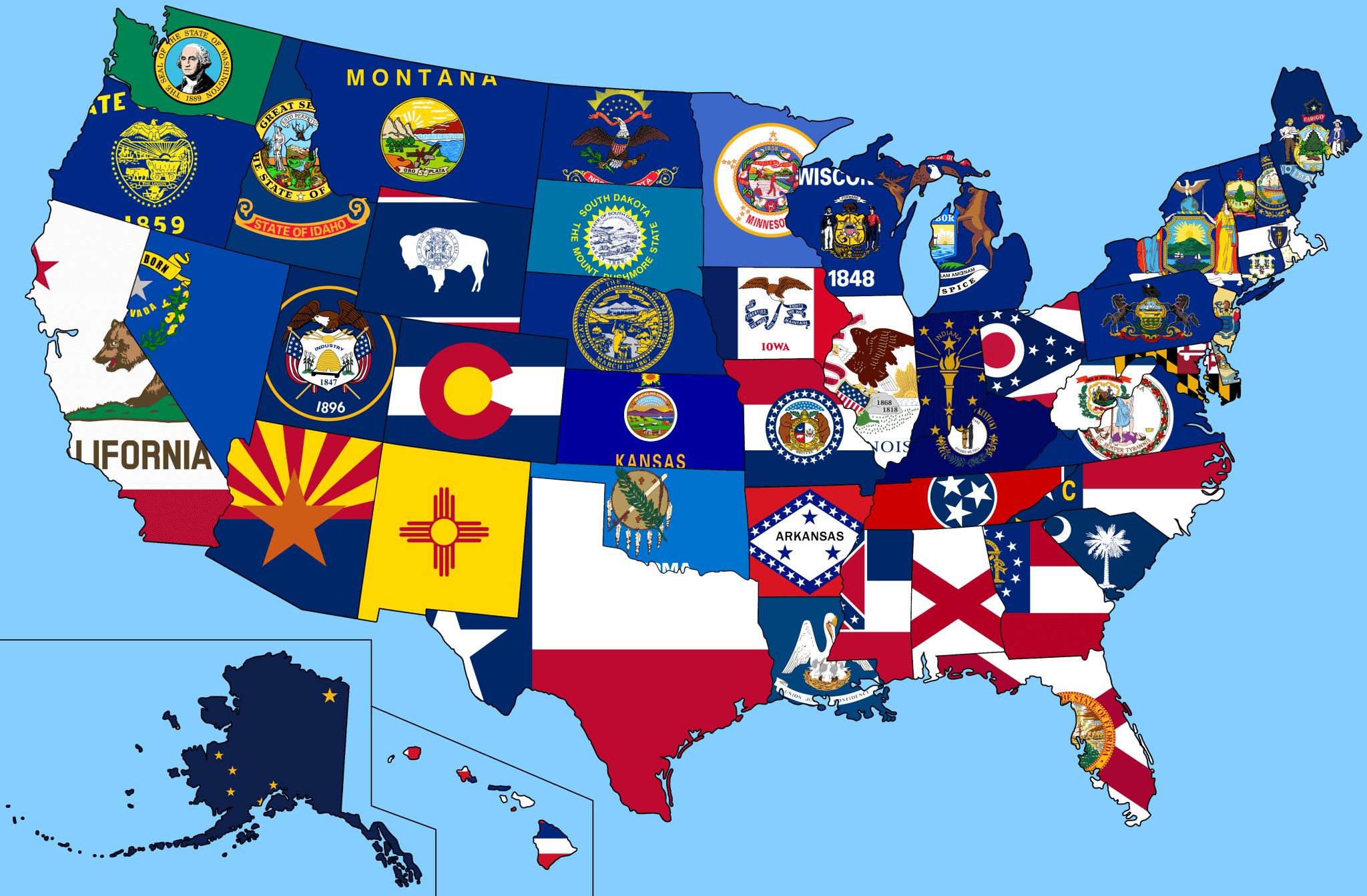bandeira dos Estados Unidos - Conheça a bandeira dos Estados Unidos